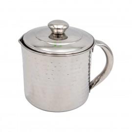 بكرج / ابريق /غلاية الحليب استيل منقوش 1 لتر هندي